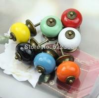 14pcs 30mm Dargon Ball Ceramic Handle Pull Knobs Cabinet Door Cupboard Drawer Locker Vintage Retro Gold