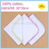 free shipping 20pcs/lot,30*30cm wholesale Kid Toddler Baby Bibs Towel boy girls cotton Head Scarf handkerchief cloth wipe