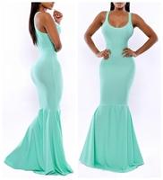 Fashion European Style Sky Blue Women Bodycon Dress Evening Party Prom OL Club Dress Women Dovetail Dress CX655787