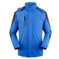 Camping & Hiking Men Windproof Jacket Plus Size XL-5XL Winter Add Fleece Waterproof Outdoor Man Sports Warm Windbreaker