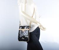 2014 New Women Fashion Mini Messenger Bag Handbag Famous Brands Bag Phone Bag Black Free Shipping
