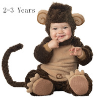 Infant Halloween Costumes Baby Romper Winter Animal Jumpsuit Cosplay Onesie Suit Hiphop Monkey Guenon Style0-3 Years Old 0-3T