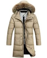 In The 2014 Winter New Long  Dark Down Jacket Men Male Leisure Fashion Down Wear Men'S Clothing