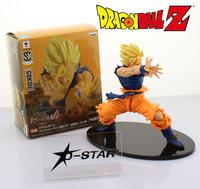"Free Shipping Cool 6"" Dragon Ball Z SUPER SAIYAN GOKU Son Gokou Kamehameha Turtle Devastation Wave PVC Action Figure Model"