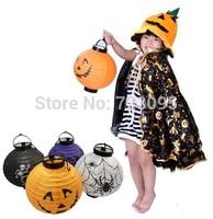 Free shipping 5pcs/lot wholesale Halloween decoration jack pumpkin lamp portable pumpkin ligt paper lantern