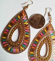 2014 FASHION  freeshipping  Luxury vintage royal princess big pearl carved tassel earrings random 10pieces jewelry wholesale