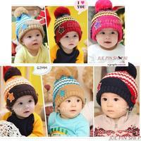 New Winter Children's Knitted Hats Boys Caps For Children Accessories Woolen Baby Girls Autumn Hat Beanie infant Star Hat SJY205