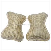 Hot New knitted fabrics car pillow waist rest cushion neck bone 2PCS car headrest pillow for lumbar support pillow free shipping