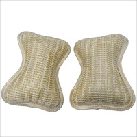 Hot Beige/Gray knitted fabrics + Sponge Vehicle car covers Waist Rest Cushion Neck Bone car headrest pillow 2PCS Free shipping