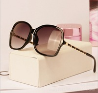 2014 new sunglasses Designer Coating Women vintage Brand Metal Oculos De Sol black leopard brown 3 colors sun glasses CH5210