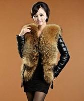 2014 New Fashion Winter Women Faux Fox Fur Collar Faux Fur Coat Faux Fur Jackets Thicken Women's Overcoat Plus SizeSV07 51