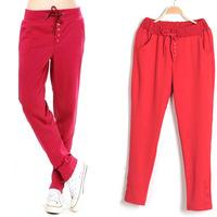 New Hot Sale Women's Harem Pants Fleece Sweatpants Straight Sports Casual Hip-Hop Pants 4 Colors