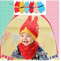2014 Fashion New Children Skullies & Brim hat triangular binder Baby Boys Girls Knitted kids Hats & Caps Cotton Cloth SJY190