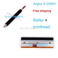 X-2000+ Argox Printhead and roller 100% new Three months warranty   free shipping 23-800020-002 200DPI Print Head