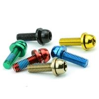 Bengal fork Adaptor Fixing Bolt  caliper screws M6  anode  colors  Screws bicycle brake