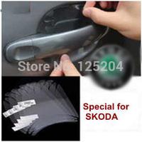 Free shipping skoda octivia fabia superb yeti vision D Rapid high quanlity rhinoceros leather car door bowl protective films