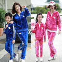 Family looke,2014winter fahison family sets clothes for girls family set clothing for mother and daughter son clothes 100%cotton
