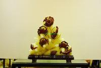 Jade crafts, jade penjing, feng shui furnishing articles, five JiaDengKe
