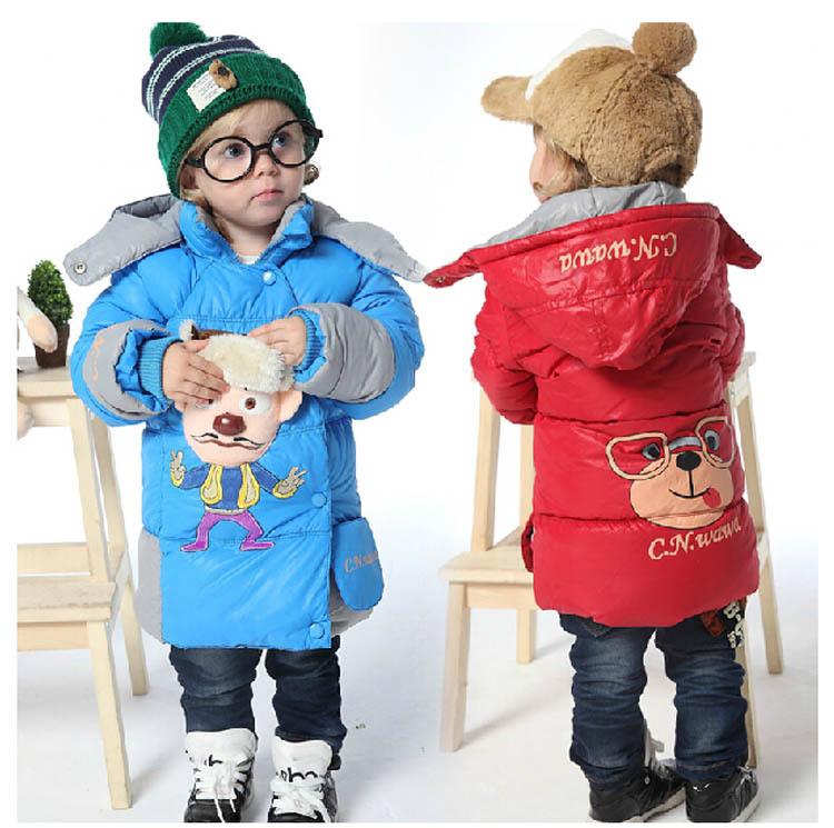 2014 Newborn Baby Snowsuit Cartoon Baby Clothing Cotton Warm Girls Winter Coat(China (Mainland))