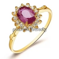Ruby ring 18k gold rings Perfect Jewelry Natural and real ruby Fine jewelry Fine jewelry Red gems #14091203
