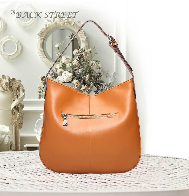 Genuine Leather Shoulder Bag Fashion Women Hand Bag Casual Shopper 2014(China (Mainland))