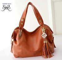 2014 new winter and autumn fashion women messenger bags Korean  Rivet Tassel women handbags bolsas femininas  elegant big bag
