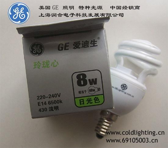 GE Lighting 8 Watt E14 Base CFL Light Bulb - Compact Fluorescent - - 40 W Equal - 80 CRI(China (Mainland))