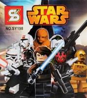 Building Blocks sets Star Wars Figures Black Knight clone soldiers Action Figures Minifigures Children Bricks kids toys Gifts