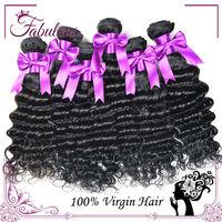 4Pcs Lot Wet And Wavy Virgin Brazilian Hair, Unprocessed Virgin Brazilian Hair 6A Grade, Brazilian Deep Wave Virgin Hair
