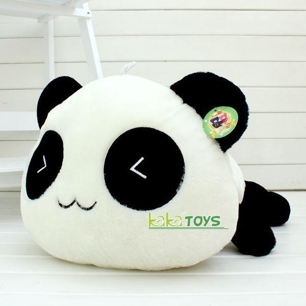 FREE SHIPPING Stuffed Plush Doll Toy Animal Giant 70CM Cute cartoon Panda Pillow Bolster Gift Toy Children Gifts Christmas gift(China (Mainland))