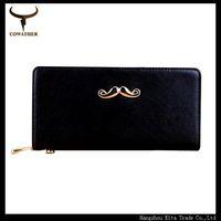 Summer Multicolor PU long wallet women bag alloy golden moustache carteiras women free shipping women wallets long wallet HS01
