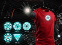 Emitting Luminous exclusive design Marvel 100% cotton t shirt men SHIELD Iron Man tshirt superman boy london t-shirt men & women