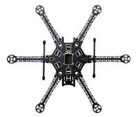 HMF S550 PCB Hexacopter FPV Aircraft Frame w/ HML 650 Carbon Fiber Quick Install Retractable Folding Landing Gear Skid legs