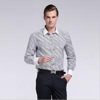 Top Quality Men Pure Cotton French Cuff Links Printing Flower Dress Shirts ,Mens floral shirt , Men's Business Shirt HMHD1K111