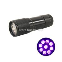 9 LED UV Flashlight Nail Polish Nail Shellac UV Gel 365nm-370nm Blacklight Pet Urine Detector Torch D9C-1AUV-7-0-3