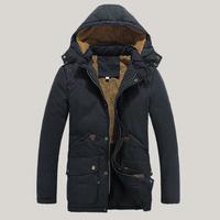 2014 New Men's Cotton Winter Coat Jackets Thicken Warm Padded Temperament Lapel Windbreaker Parka Plus size M-XXXL