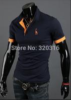 2014 New Men Slim short-sleeved shirt Differnt Color M L XL XXL size turndown MTX01A01