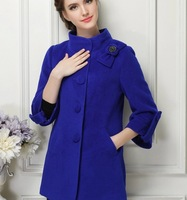 Yue Bai Korea 2014 new autumn and winter wool woolen coat long section of genuine cashmere coat NDX125  Y9W