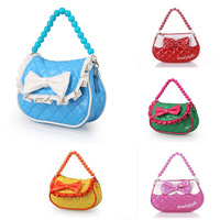 Free shipping baby girls' beads messenger bag good quality Princess Bag