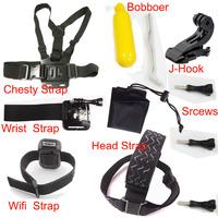 Sj4000 Gopro Accessories Kit Go Pro Professional Tripod Selfie Monopod Mount Helmet For Iphone Camera hero3 Hero 3 Black Edition