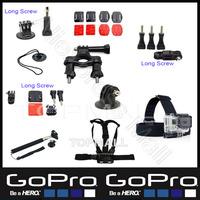 Sj5000 Sj4000 Camera Go pro Hero3 Gopro Accessories Kit Tripod Monopod Selfie Chest Head Strap mounts for Hero 2 3 Black edition
