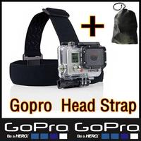 New Arrive Gopro Head Strap hero3 hero2 Sj4000 Accessories Elastic Adjustable Belt Mount for Go Pro hero 3 2 HD Camera Send Bags
