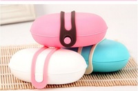 Candy-colored plastic travel soap box soap holder sealing silicone buckle design portable travel essential