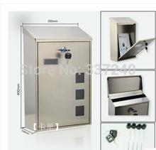 304Stainless Steel Mailbox / Postbox / magazine storage box / wall-mounted mailboxes / Suggestion Box / Free Shipping(China (Mainland))