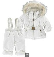 2014 New winter baby boys girls clothing set hoodies winterbreak outerwear coat + overalls suit bebe warm Jacket Parkas costume