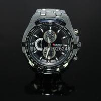 2014 New 100% Curren Original Men Luxury Brand Watch Fashion Watch Quartz Watch Full Steel Wristwatch 7 Color Free Shipping