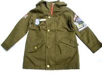 retail-autumn winter zipper letter trench for child boy girl