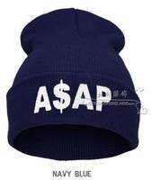 1PC 9 colors  2014 Sport Winter ASAP Beanie Cap Men Hat Beanie Knitted Winter Hiphop Hats for women cap Fashion Caps Hot Sale