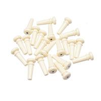 Free Shipping 100pcs Ivory Plastic 3mm/PVC Guitar Strap Button With Black Dot