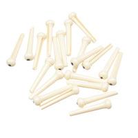 Free Shipping 100pcs Ivory Plastic 2MM/PVC Acoustic Guitar Bridge Pins With Black Dot Guitar Parts